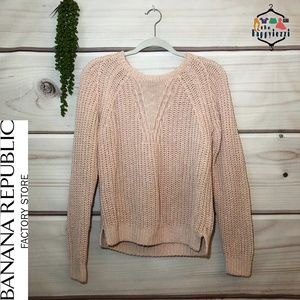 Banana Republic Factory Cable Knit Sweater L